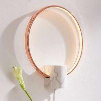 idées cadeaux femme noel applique marbre cuivre lampe