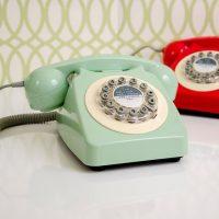idee cadeaux homme noel telephone retro 746 jaune moutarde