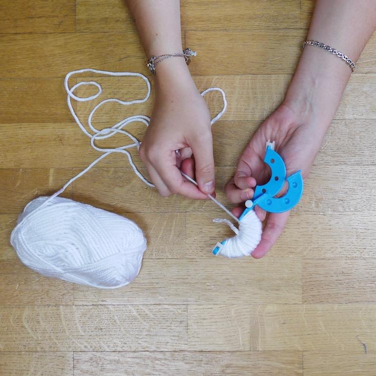 pelote laine diy mobile enfant