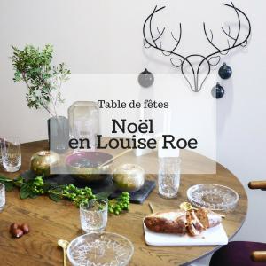 table de fête noël around the corner scandinave
