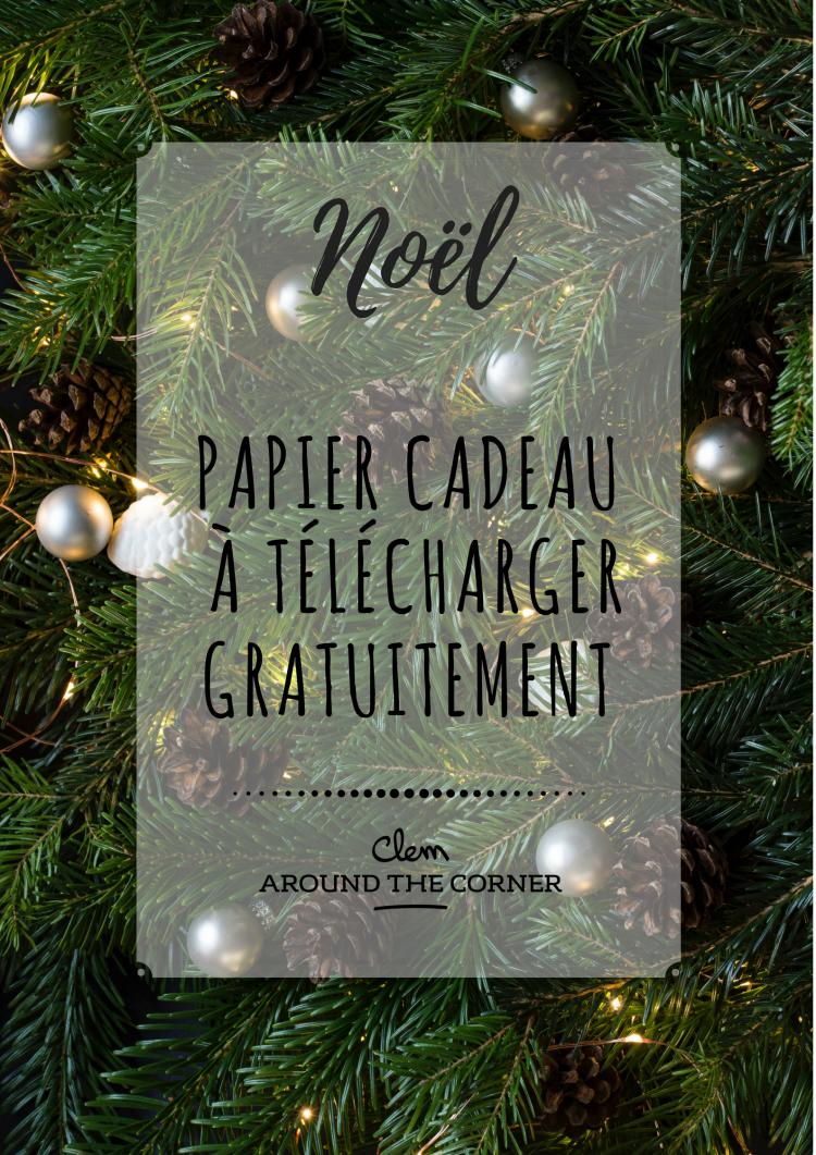 noel around the corner papier cadeau a imprimer gratuit