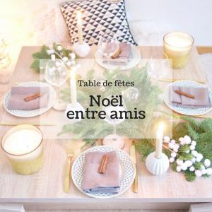 table de fête noël around the corner entre amis