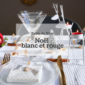 table de fête noël around the corner blanc et rouge