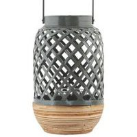 Photophore Breeze Small / Bambou - Ø 15 x H 24 cm - House Doctor