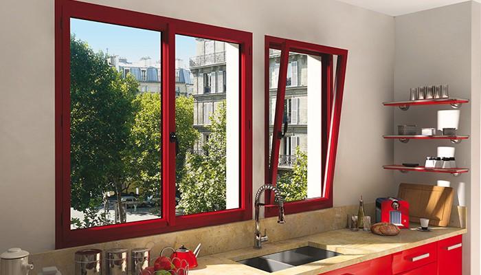 cuisine fenetre rouge deco paris blog