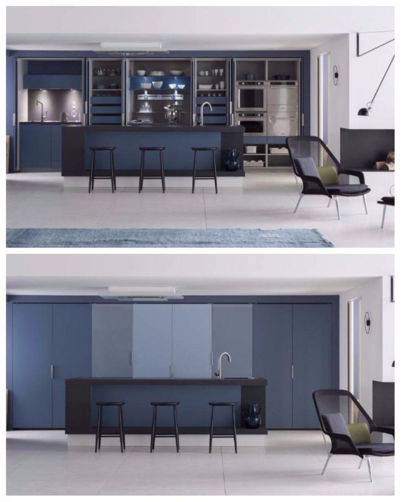 cuisine perene bleue placard minimaliste