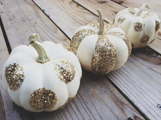 decorer une citrouille dore halloween or diy