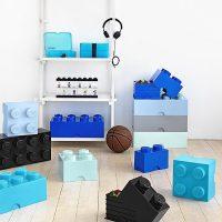 idées cadeaux enfant lego boite jouet enfant bleu