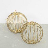 idées cadeaux femme decoration noel minimaliste boule fil laiton or