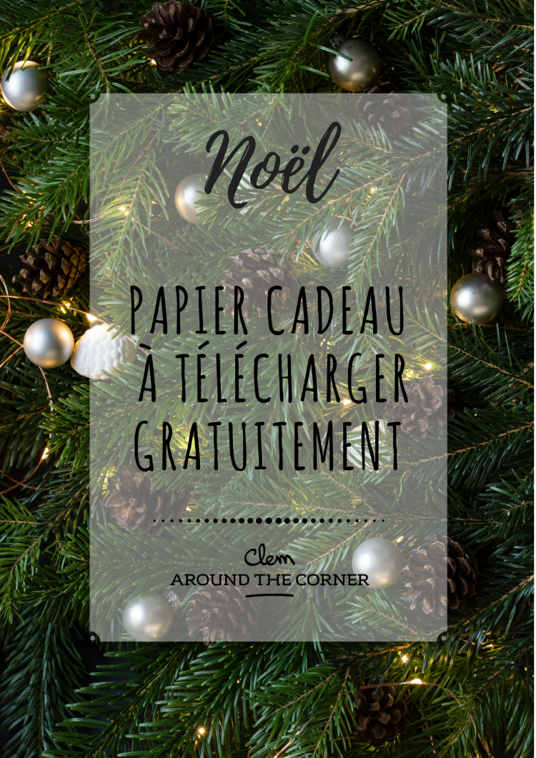 noel around the corner papier cadeau a imprimer gratuit