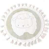 idées cadeaux enfant fille garcon tapis rond mouton pompon