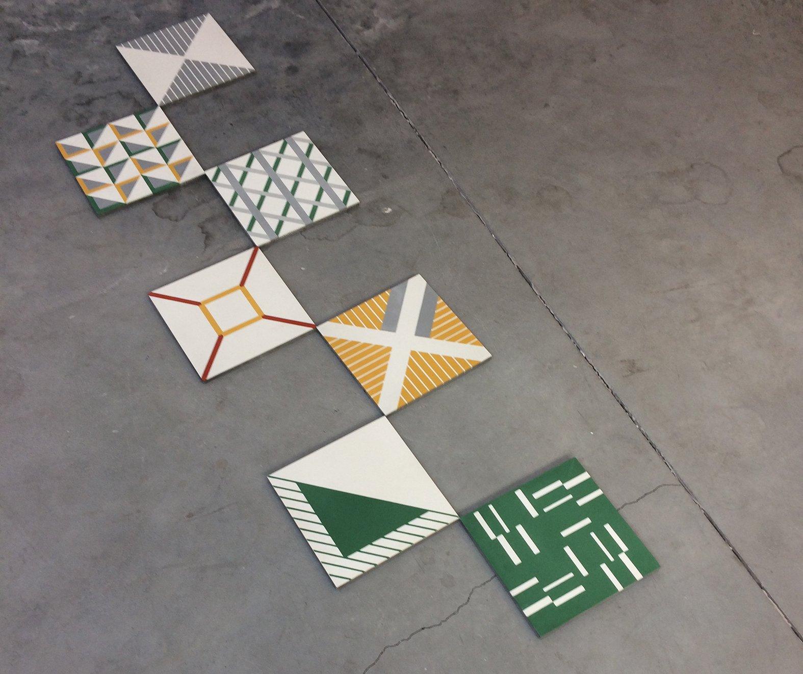 Lauriane Beaunier studio Excla carreaux ciment rotterdam
