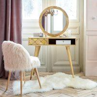 coiffeuse tiroir en manguier miroir idées cadeaux femme