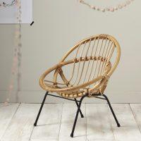 idées cadeaux enfant deco fauteuil enfant rotin