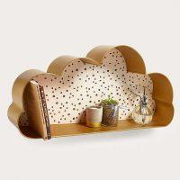 idees cadeaux enfant etagere dore laiton forme nuage