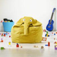 idées cadeaux enfant bébé déco pouf elephant