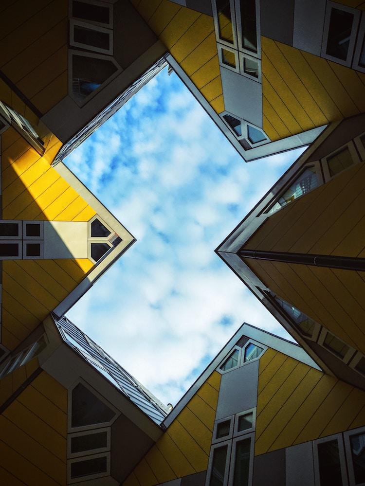 maisons cubes Piet Blom oude Haven rotterdam architecture