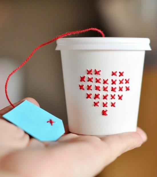 deco point de croix diy mug de Noël