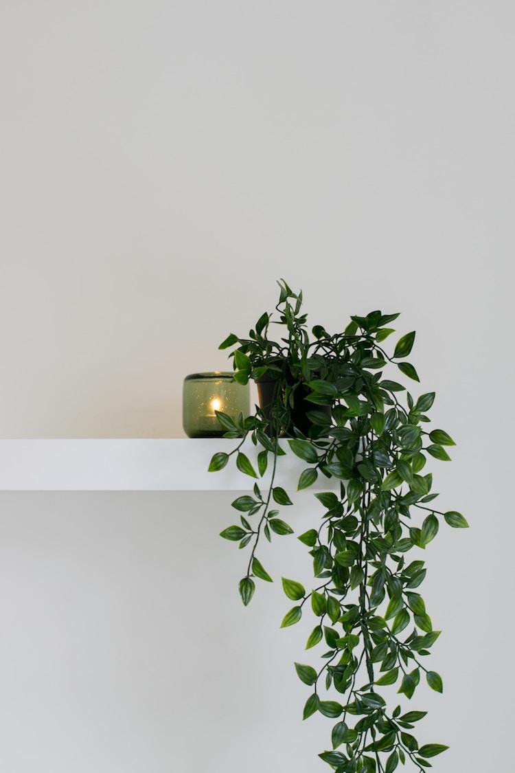 bien decorer sa maison en hiver bougie deco minimaliste eucalyptus