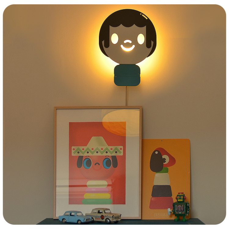 déco enfant made in france educalux lampe applique bonhomme