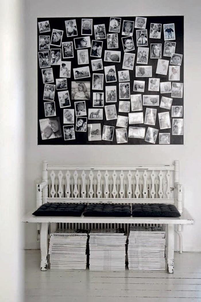 banc dans maison noir et blanc