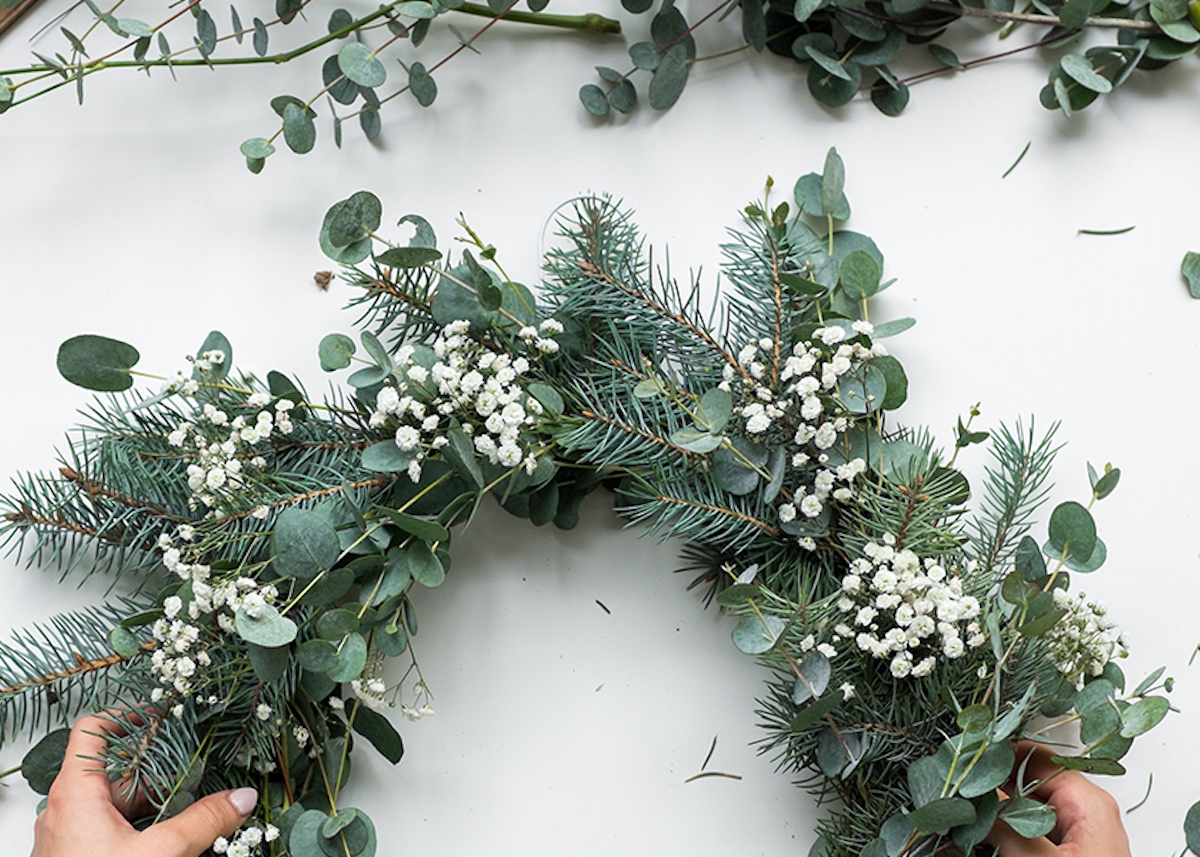 couronne eucalyptus tables de noel