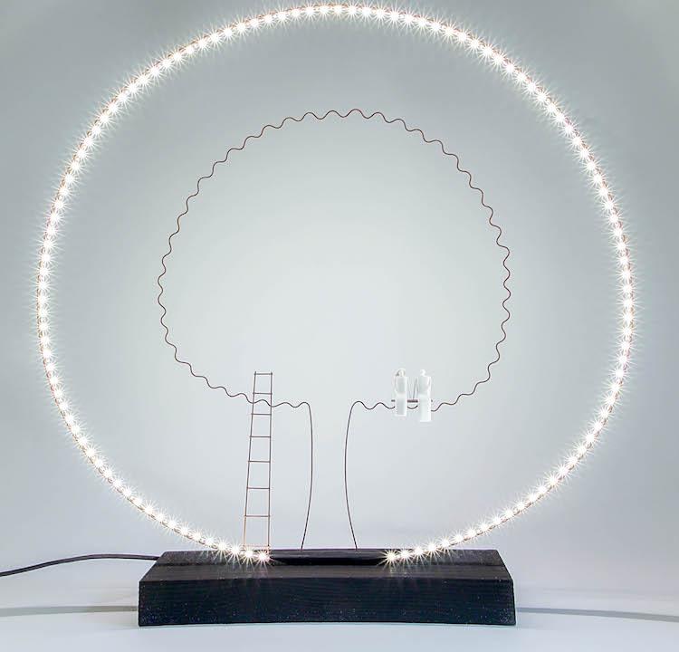 lauren trebout arbre luminaire cercle