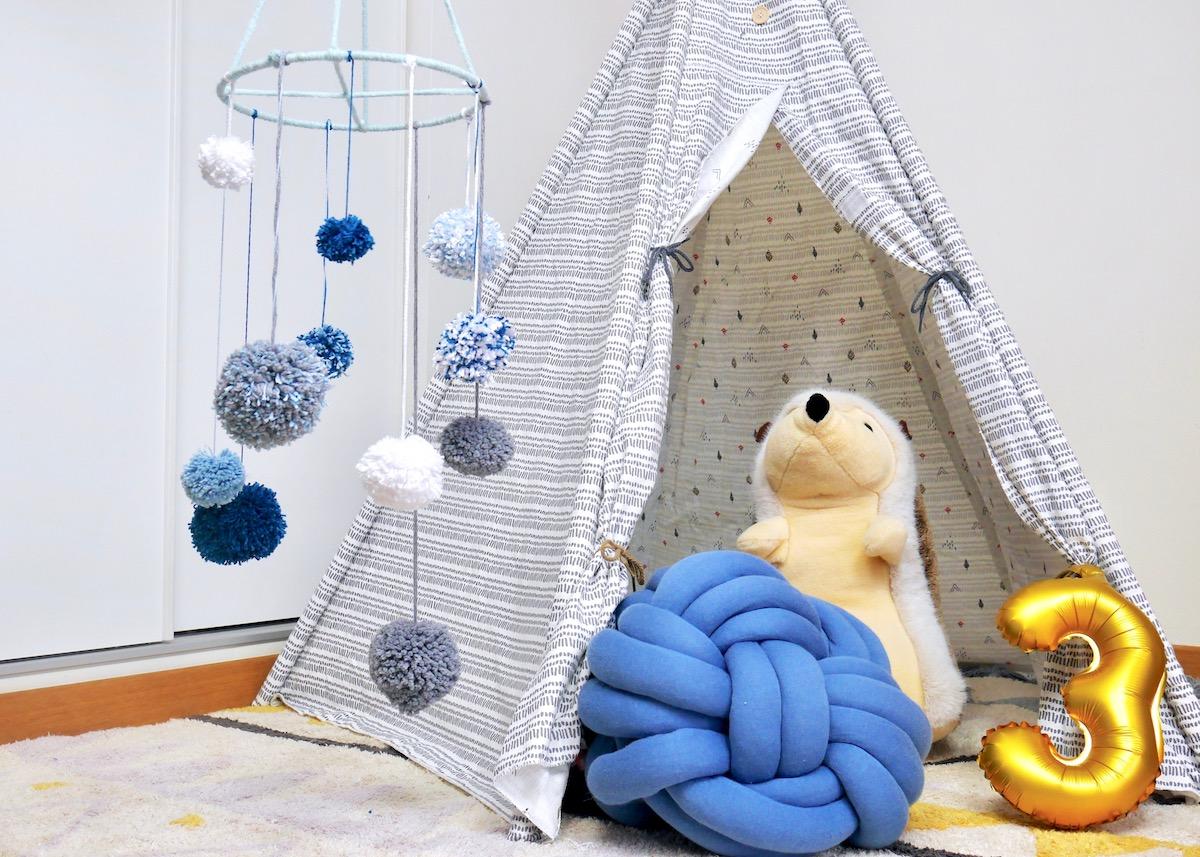 chambre enfant pompoms diy