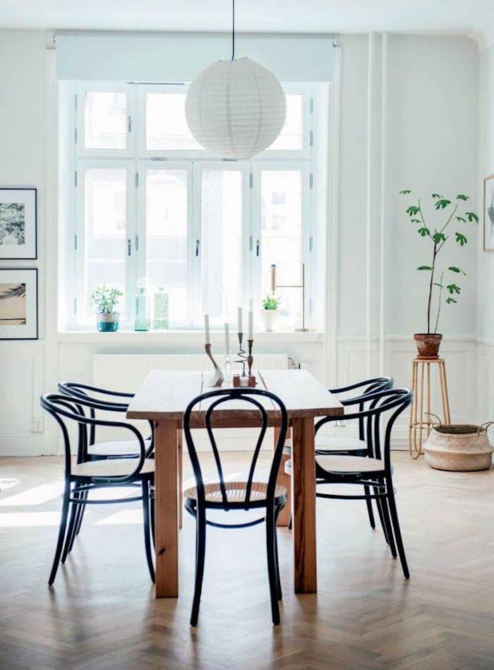 appartement familial suédois salle a manger retro vintage