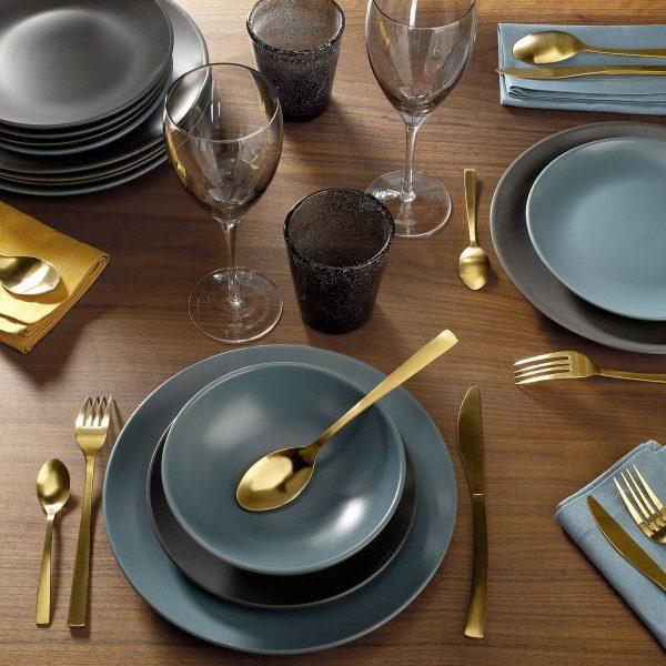 couverts dorés laiton table noel deco fourchette or