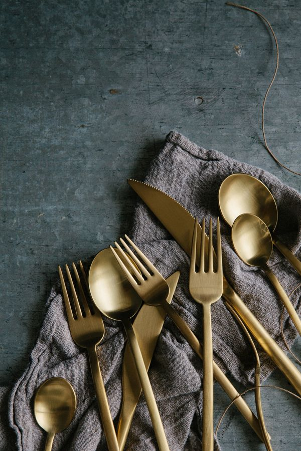 couverts dorés laiton table noel deco scandinave