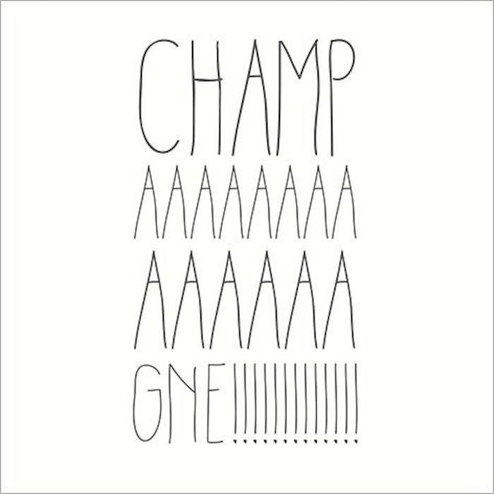 champagne diy carte de voeux