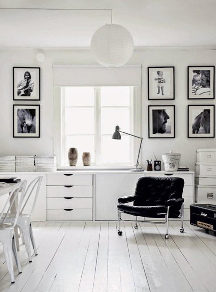 maison noir et blanc couleurs d 39 un int rieur chaleureux clem. Black Bedroom Furniture Sets. Home Design Ideas