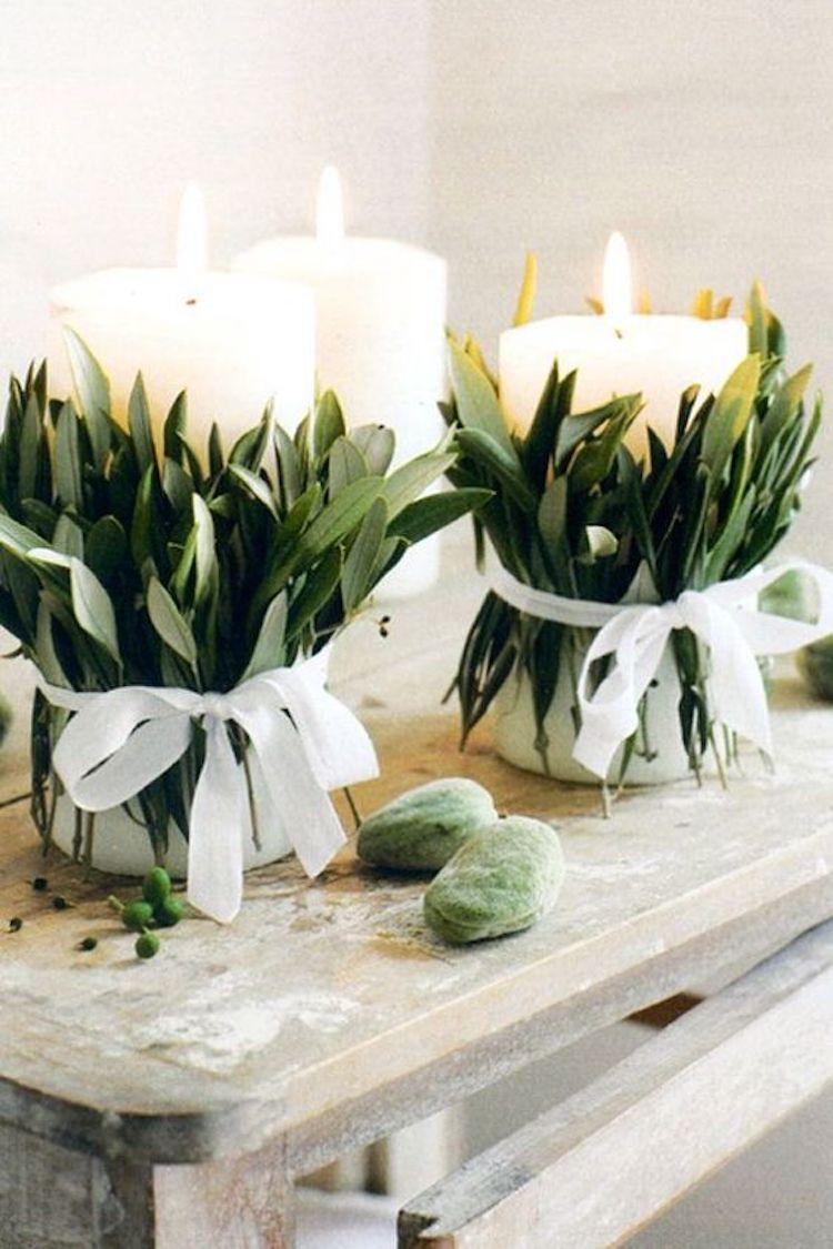 tables de noel bougies