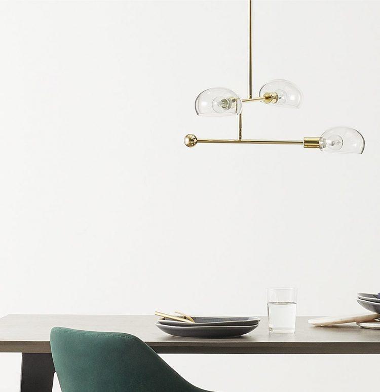 soldes chez made lampe suspension laiton design pas cher