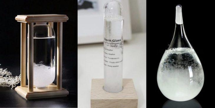 thermometre interieur design barometre verre prevision tempete