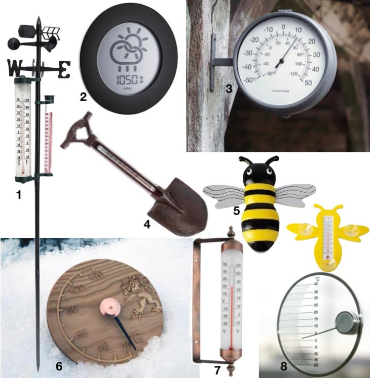 thermomètre mural extérieur design retro vintage blog deco clem around the corner
