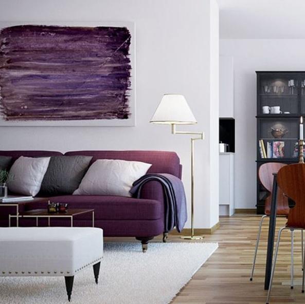 pantone 2018 ultra violet canape cosy blanc