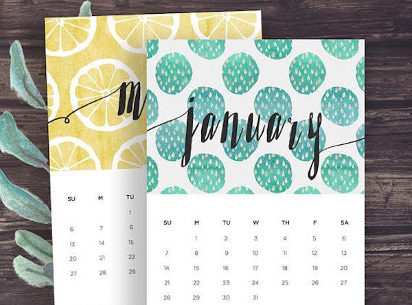 calendrier 2018 original imprimer citron 2018 planning