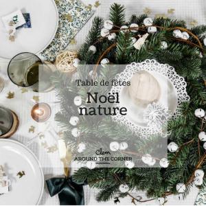 jolie table de noel nature style scandinave