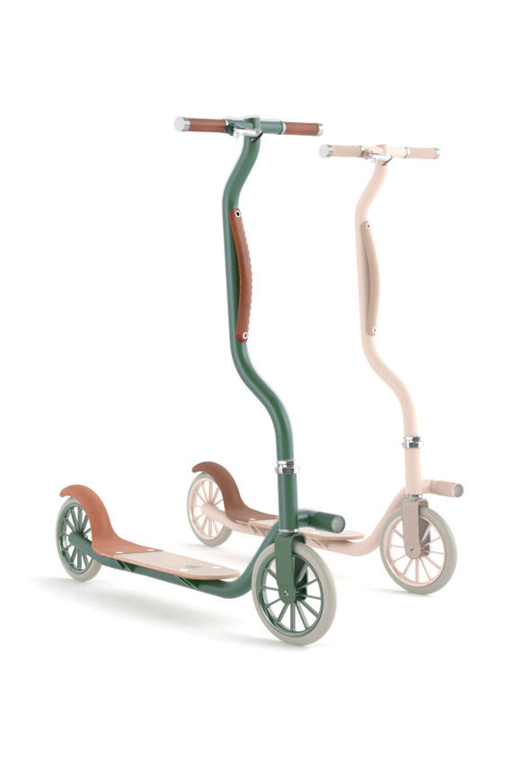 article de sport design transport trottinette la galoche hipster