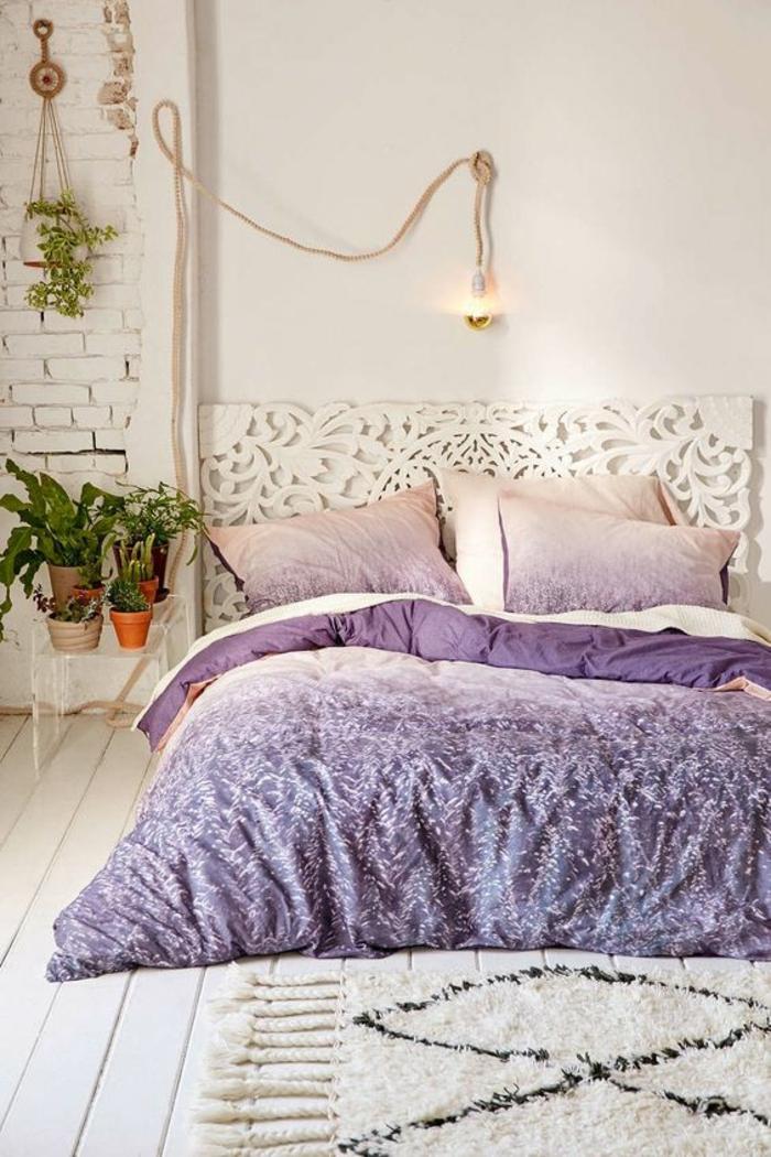 pantone 2018 ultra violet couette boheme decoration interieure chambre