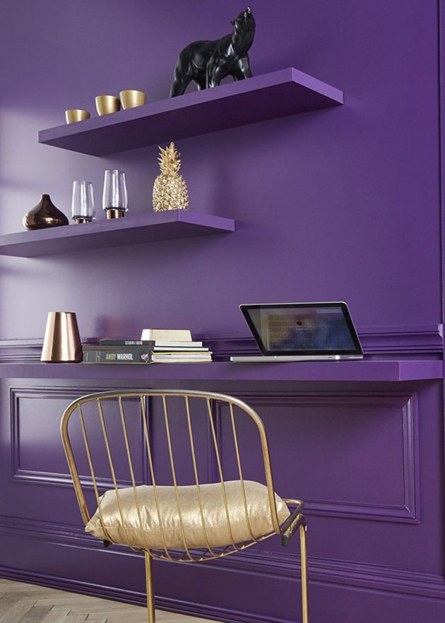couleur pantone 2018 ultra violet clem around the corner. Black Bedroom Furniture Sets. Home Design Ideas