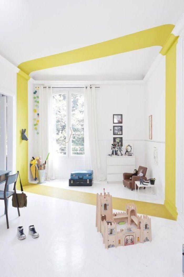 jaune separer deux pieces ligne