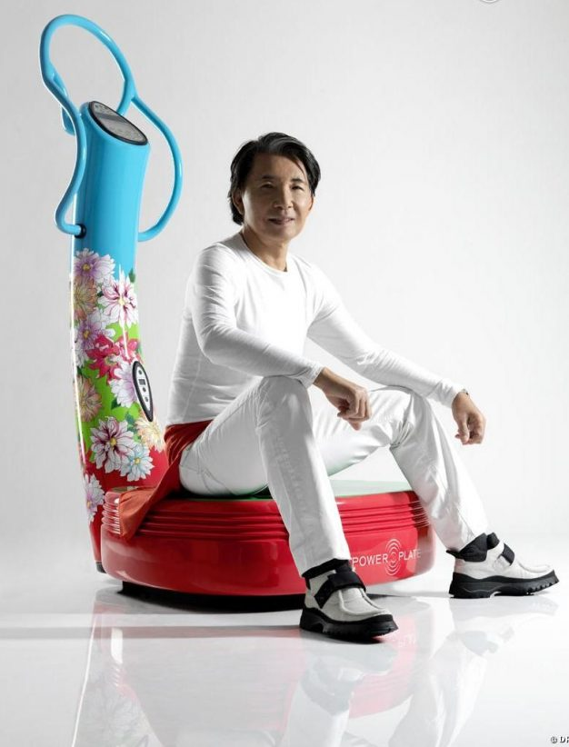 machine de sport design power plate kenzo takada bleu flower