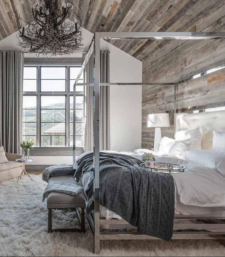Chalet flanc de montagne blog d co clem around the - Deco chambre chalet montagne ...