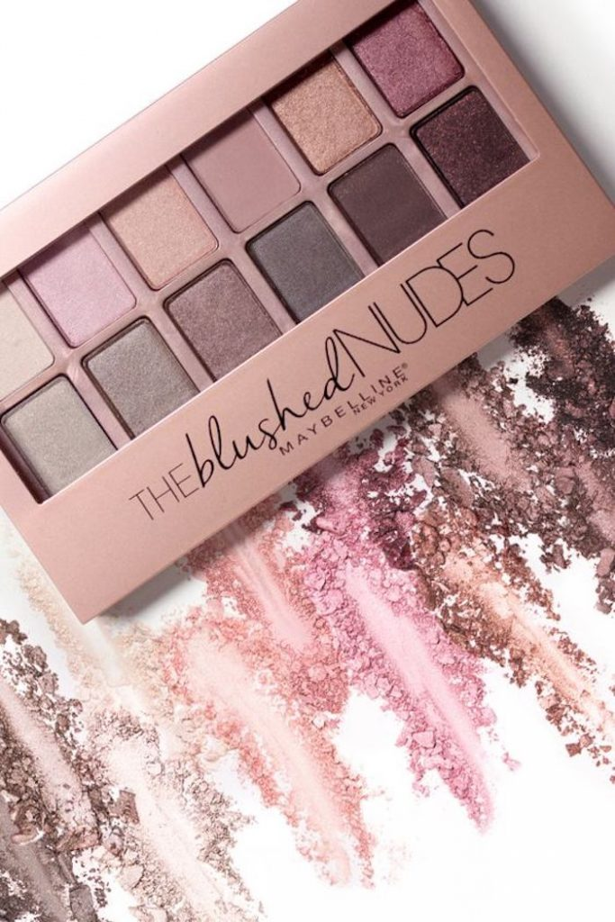 deco rose poudre palette nudes maybelline palette gold nude marron gris taupe violet rose maquillage nude creamy