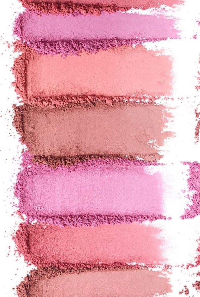 deco rose poudre blush couleurs palette maquillage nude maquillage tendance rose orange marron beige orange pêche
