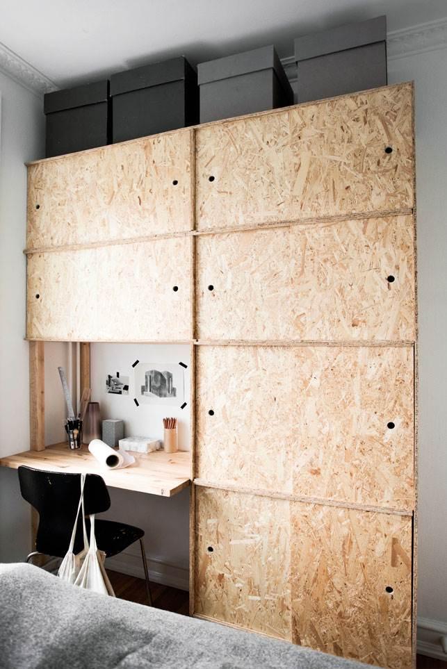 placard meuble osb sur mesure placard bureau encastre