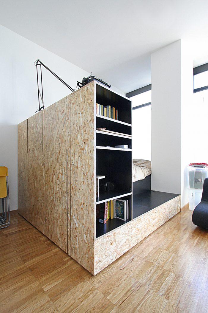 créer coin chambre isolé meuble cube studio étudiant appartement parisien